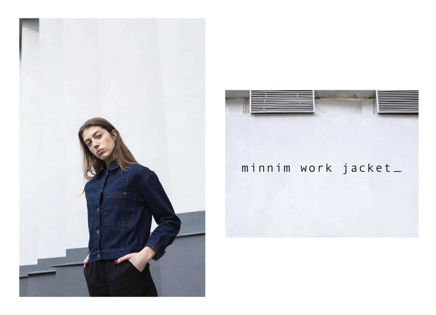 Джинсовая куртка MINNIM Work Jacket Indigo